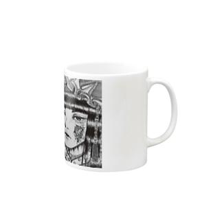 自作ペン画グッズ Mugs
