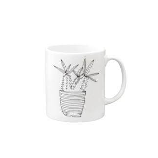謎植物の鉢植え Mugs
