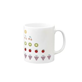ボタンフルーツ5。だワン Mugs