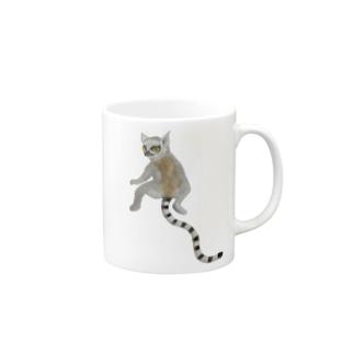 💕 with ワオキツネザル❤️ Mugs