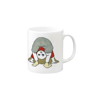 世の中逆さま Mugs