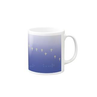 つめくさカップ店のよる Mugs