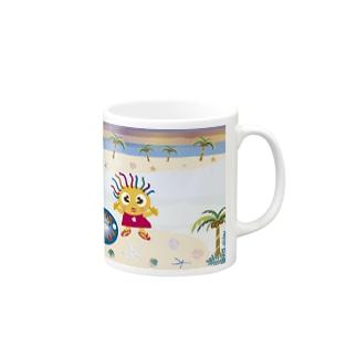 クレコちゃん南国の島の夕暮れ Mugs