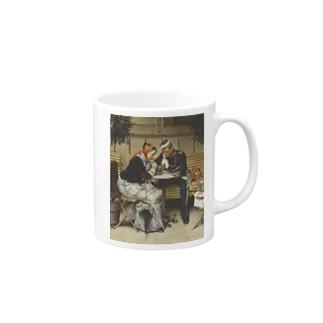 ヴィルヘルム・ローゼンスタンド《コペンハーゲン、カフェ・ア・ポルタの外で》 Mugs