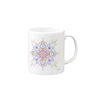 A Cross Flower of Love Mugs