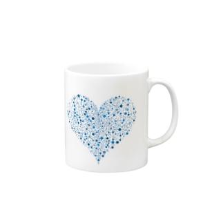 Dots Heart(Turquoise) Mugs