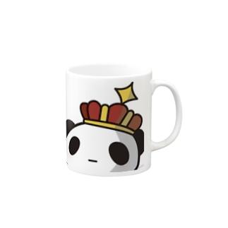 王様ぱんだ。どーん。 マグカップ