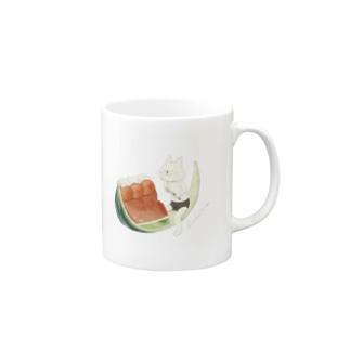 ネコぱんとスイカゼリー  Mug