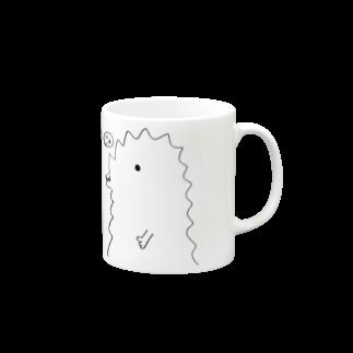 宮澤寿梨のじゅ印良品の『半じゅジラ』マグカップマグカップ