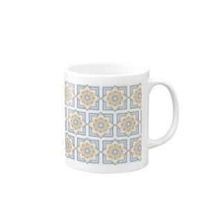 モロッカンに憧れるタイル柄 サマー系 Mugs