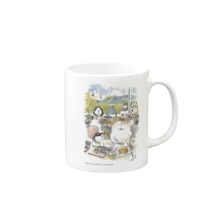 水彩イラストDiary Mugs