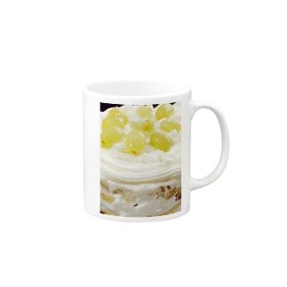 マスカットのケーキ マグカップ
