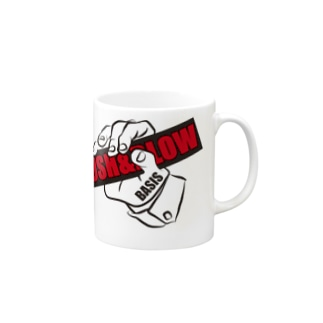 PUSH & BLOW -black/red- Mugs