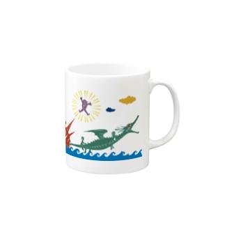 ヤノベケンジ《ラッキードラゴンのおはなし》(デザインNo.2) マグカップ