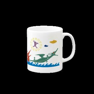 ヤノベケンジアーカイブ&コミュニティのヤノベケンジ《ラッキードラゴンのおはなし》(デザインNo.2)マグカップ