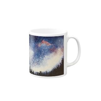 森から見上げた星空 マグカップ