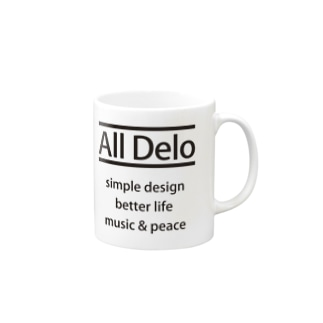 All Delo - better life マグカップ