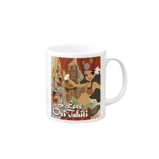 タヒチアンダンス Mugs