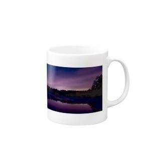 日没 景色 Mugs