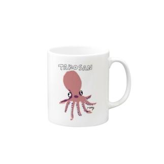タコさんソロダンス(ピンク) Mugs