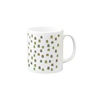 カエルいっぱい大集合 Mug