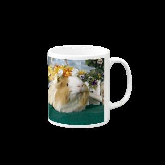 MORPHEUS&もんぺのモルモットのちくわ姫・花かんむり Mugs