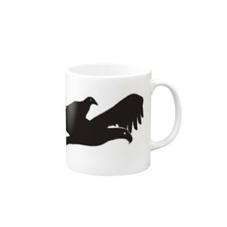 猛禽類とからす Mugs