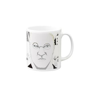 白人の中年紳士 Mugs