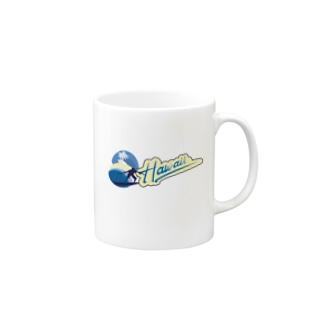 ハワイサーフィン Mugs