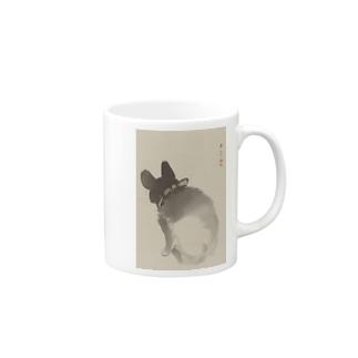 川端玉章 猫図  Mugs