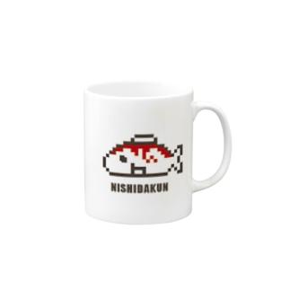 ドット西田くんマグ Mugs