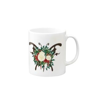 蝶ブーケ マグカップ