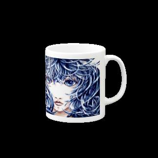 sioriの決意の少女マグカップ