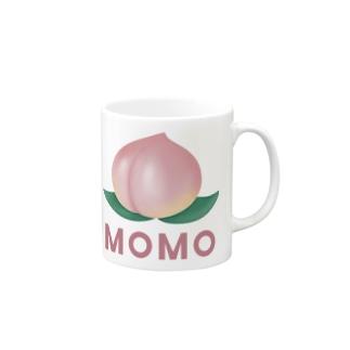 桃のTシャツ・パーカー・マグカップ可愛いグッズ Mugs