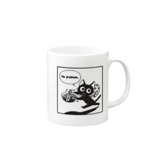 黒ねこマグ マグカップ