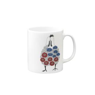 花にわとり Mugs