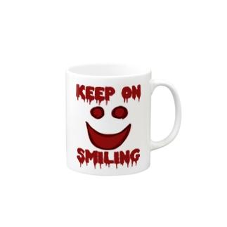 KEEP ON SMILING マグカップ