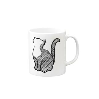 鱗猫 マグカップ