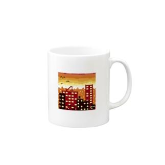 夕焼けドット Mugs