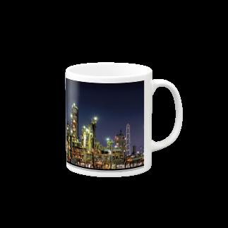 ハリネズミの工場夜景(四日市) Mugs