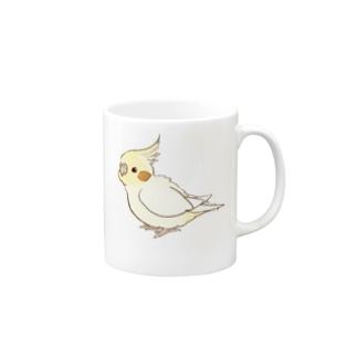 オカメインコ(ルチノー) Mugs