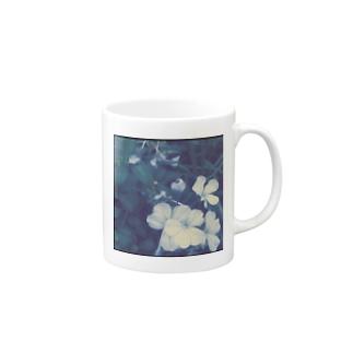 blue flower Mugs