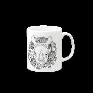 どんすけのWorld Rhino Dayマグカップ