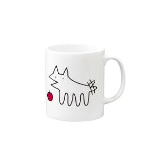 犬とりんご マグカップ