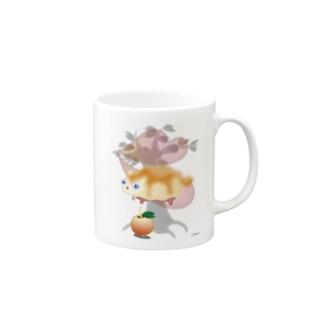 ジャム猫パン Mugs