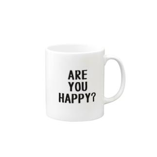 アーユーハッピ?? Mugs