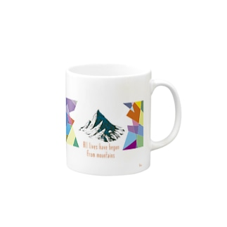All lives have begun from mountains Mugs