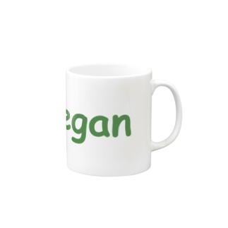 vegan(green logo) Mugs
