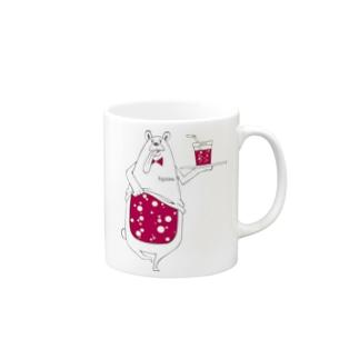 I.gasu peach bear 【アイガス】 Mugs