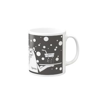 I.gasu peachbear black 【アイガス】 Mugs